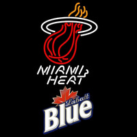 Labatt Blue Miami Heat NBA Beer Sign Neon Sign