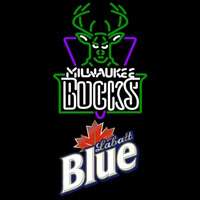 Labatt Blue Milwaukee Bucks NBA Beer Sign Neon Sign
