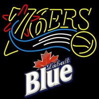 Labatt Blue Philadelphia 76ers NBA Beer Sign Neon Sign