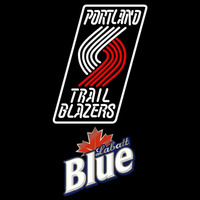 Labatt Blue Portland Trail Blazers NBA Beer Sign Neon Sign