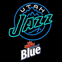 Labatt Blue Utah Jazz NBA Beer Sign Neon Sign