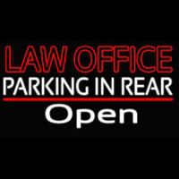 Law Office Open Neon Sign