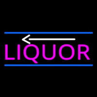 Liquor With Arrow Neon Sign
