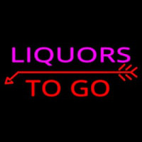 Liquors To Go Neon Sign