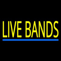 Live Bands Block Neon Sign