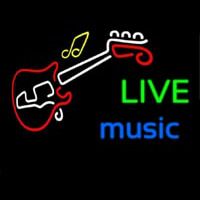Live Green Music Blue Neon Sign