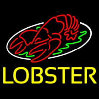Lobster Block With Logo Neon Sign