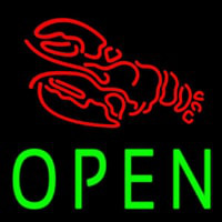 Lobster Open Block Neon Sign