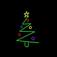 Logo Christmas Tree Neon Sign