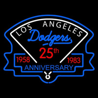 Los Angeles Dodgers Anniversary 1983 Logo MLB Neon Sign Neon Sign