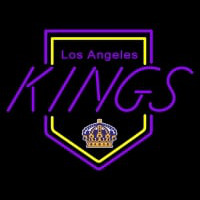 Los Angeles Kings Primary Logo Nhl Neon Sign Neon Sign