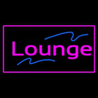 Lounge Rectangle Pink Neon Sign