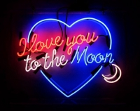 Love you to the moon and back Neon Sign