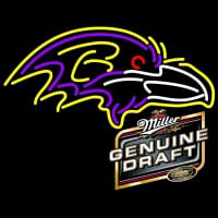 MGD Baltimore Ravens NFL Neon Sign Neon Sign