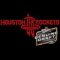 MGD Houston Rockets NBA Beer Sign Neon Sign