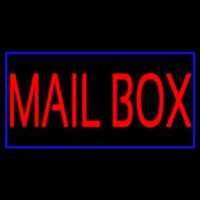 Mailbo  Blue Border Neon Sign