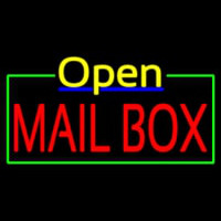 Mailbo  Open Neon Sign