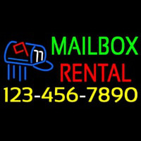 Mailbo  Rental With Phone Number Neon Sign