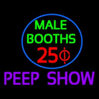 Male Booths Peep Show Neon Sign