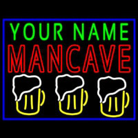 Man Best Friend Glasses Man Cave Neon Sign