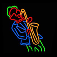 Man Playing Saxophone Neon Sign