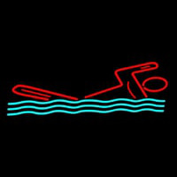 Man Swimming Neon Sign
