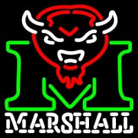 Marshall Thundering Herd Primary Pres Logo NCAA Neon Sign Neon Sign