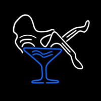 Martini Glass Girl Neon Sign