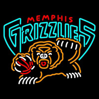 Memphis Grizzlies Primary 2001 02 2003 04 Logo NBA Neon Sign Neon Sign