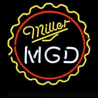 Mgd Miller Lite Genuine Draft Man Pub Display Neon Sign