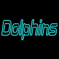Miami Dolphins Wordmark  Pres Logo NFL Neon Sign Neon Sign