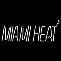 Miami Heat Wordmark 1988 89 Pres Logo NBA Neon Sign Neon Sign
