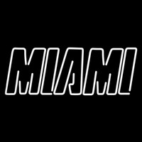 Miami Heat Wordmark 1999 00 Pres Logo NBA Neon Sign Neon Sign