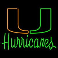 Miami Hurricanes Wordmark 1979 1999 Logo NCAA Neon Sign Neon Sign