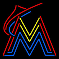 Miami Marlins Alternate 2012 Pres Logo MLB Neon Sign Neon Sign