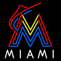 Miami Marlins MLB Logo Neon Sign Neon Sign