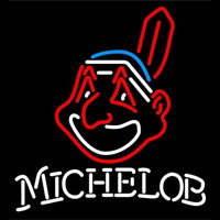 Michelob Cleveland Indians MLB Beer Sign Neon Sign