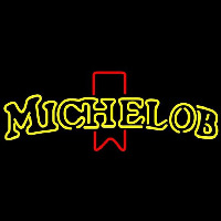 Michelob Double Stroke Name Red Ribbon Beer Sign Neon Sign