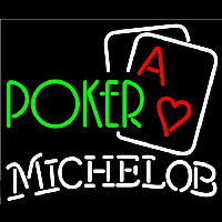 Michelob Green Poker Beer Sign Neon Sign
