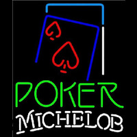 Michelob Green Poker Red Heart Beer Sign Neon Sign