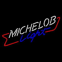 Michelob Light Cross Red Ribbon Neon Sign
