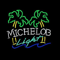 Michelob Light Dual Palm Trees Neon Sign