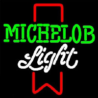 Michelob Light Red Ribbon Neon Sign