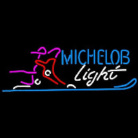 Michelob Light Snow Ski Boot Beer Sign Neon Sign