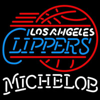 Michelob Los Angeles Clippers NBA Beer Sign Neon Sign