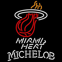 Michelob Miami Heat NBA Beer Sign Neon Sign