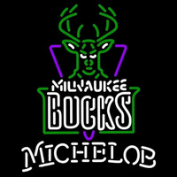 Michelob Milwaukee Bucks NBA Beer Sign Neon Sign