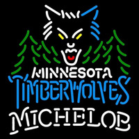 Michelob Minnesota Timberwolves NBA Beer Sign Neon Sign