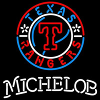 Michelob Texas Rangers MLB Beer Sign Neon Sign