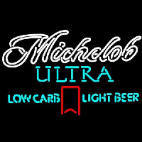 Michelob Ultra Light Low Carb Red Ribbon Neon Sign